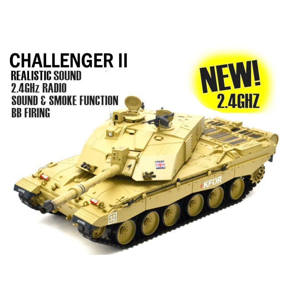 123b03985f3d Heng Long 1 16th Bristish Challenger 2 RC Tank Smoke and Sound ...