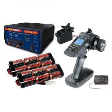 Transmitter Battery and Charger Bundles for Tamiya Kits