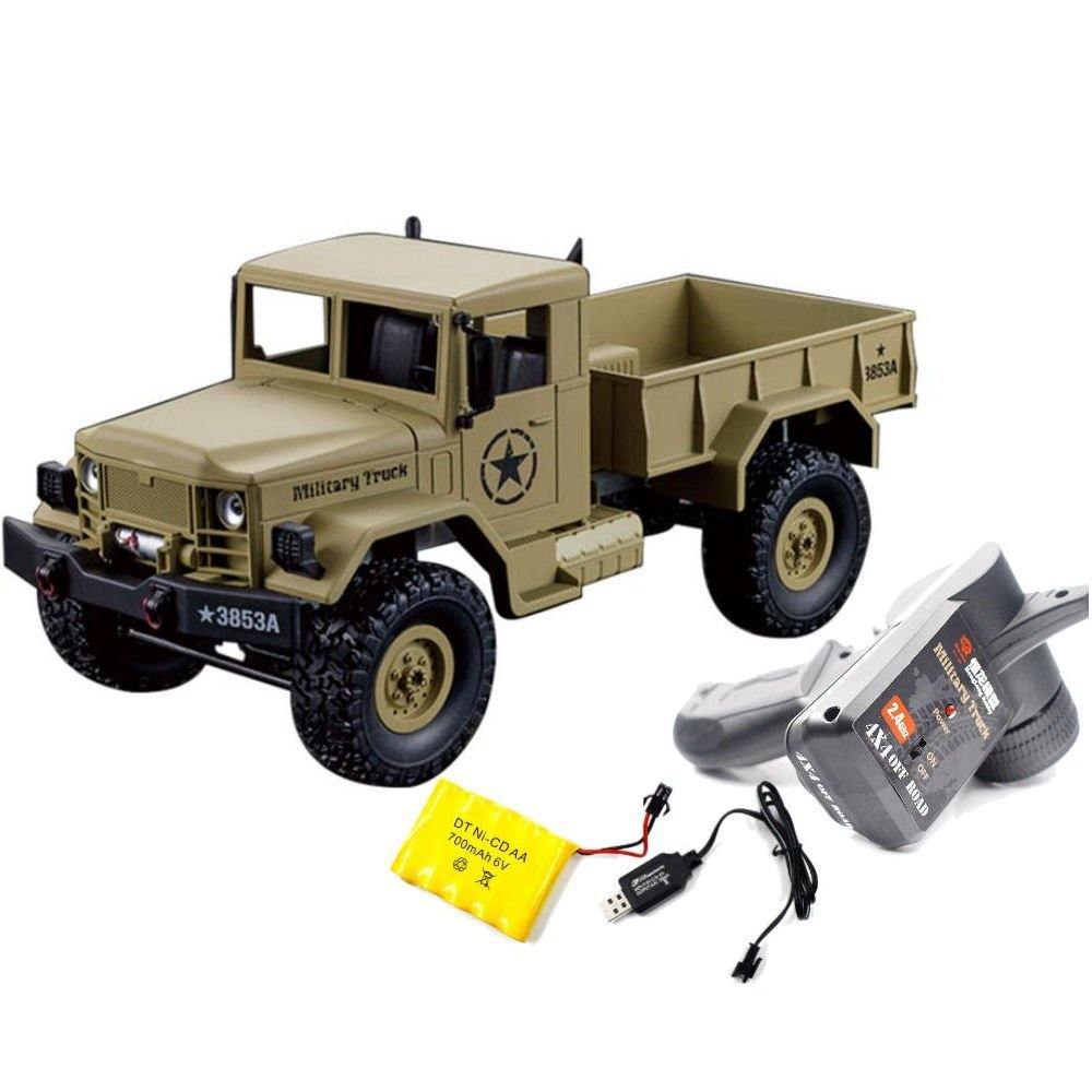 Heng Long Radio Remote Control RC Truck Tank 4WD Military