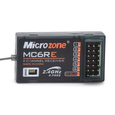 MICROZONE MC6RE 6 CHANNEL RECEIVER (WITH AERIAL FOR BOATS)
