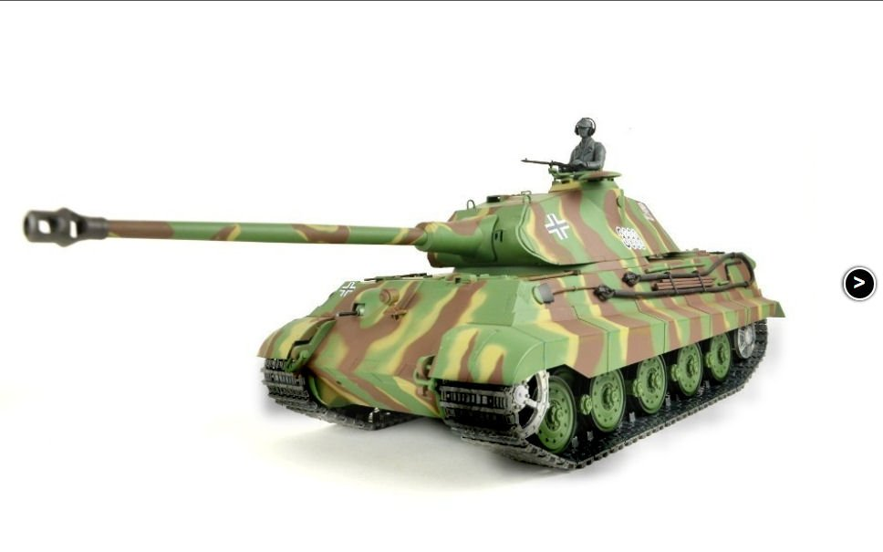 Heng Long 1 16th German King Tiger Rc Tank With 2 4ghz Radio
