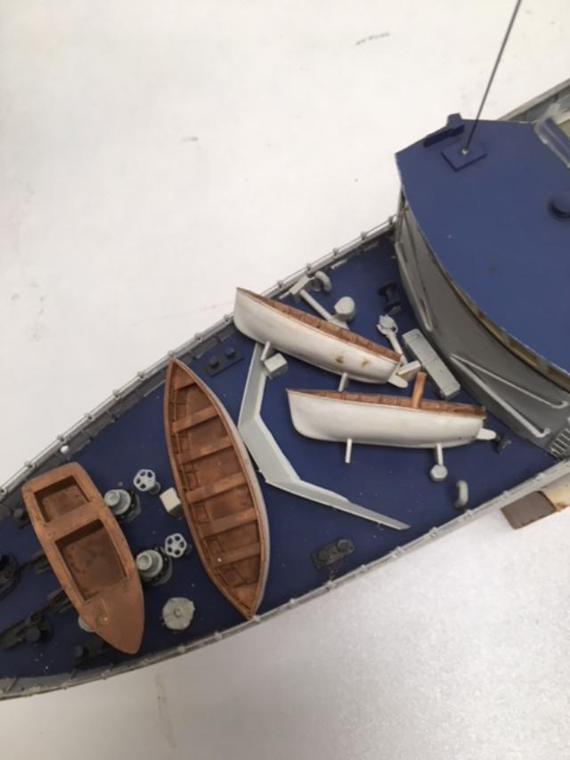 Plastic Kit Destroyer Model Boat (Built)