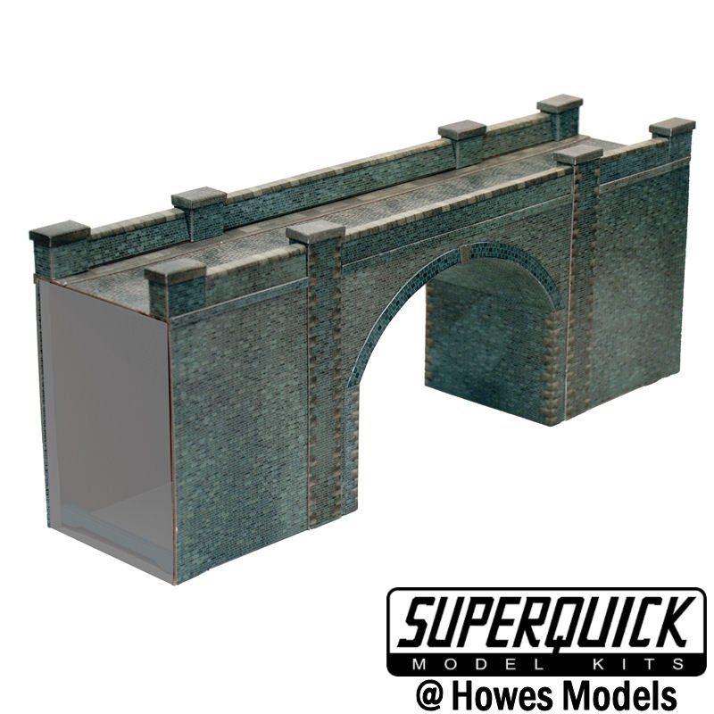 Superquick A15 Blue Brick Bridge or Tunnel Entrance OO Scale Card Kit