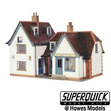 Superquick 2 Country Town Shops Card Kit OO Gauge SQB22