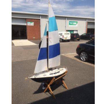 Large Scale Model Sailing Yacht Blue Mist